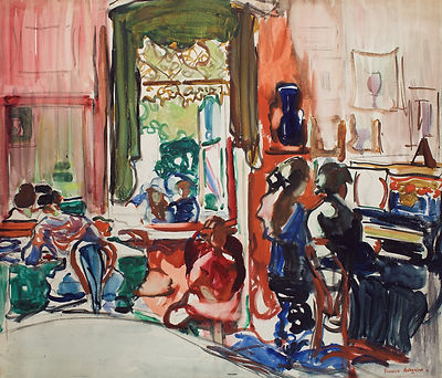 Frances_Hodgkins_-_The_Piano_Lesson_-_Go