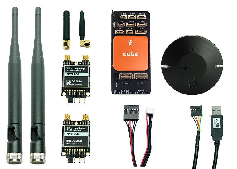 Full Bundle - Pixhawk 2.1 Orange / Here2 GNSS / RFD 900+