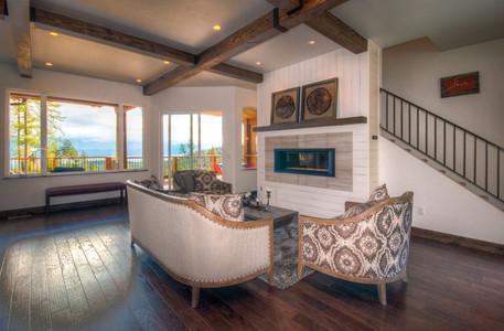 Swan Home Living Room Fireplace