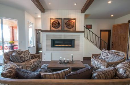 Swan Home Ship-Lap Fireplace