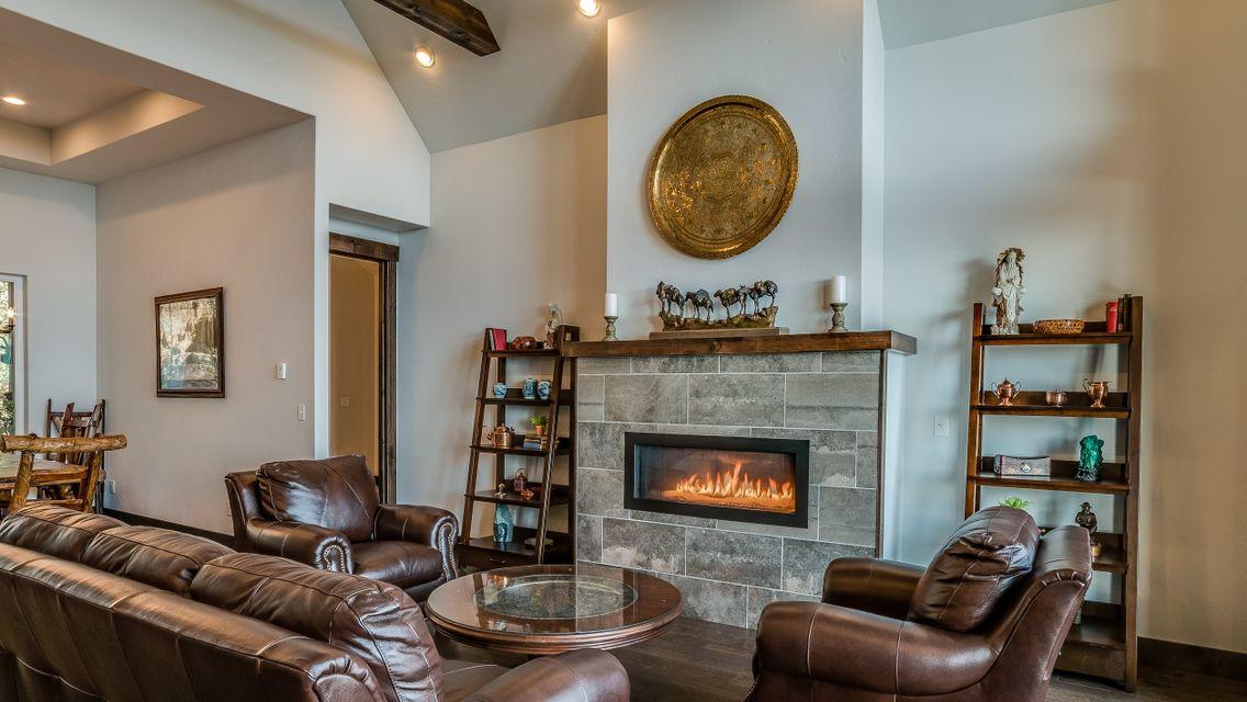 Big Bear Boulder Fireplace