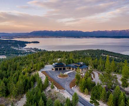 Panorama Aerial Lake View