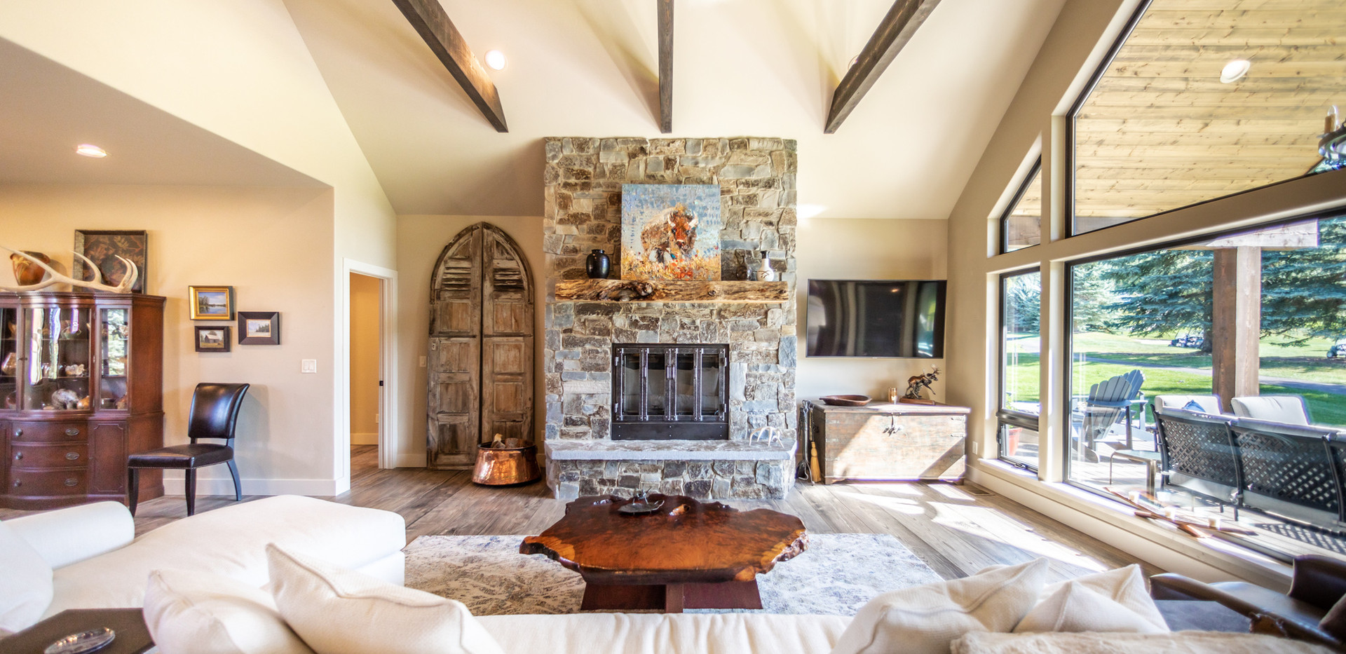 Fireplace with Custom Mantle