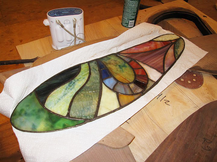 stained glass during work