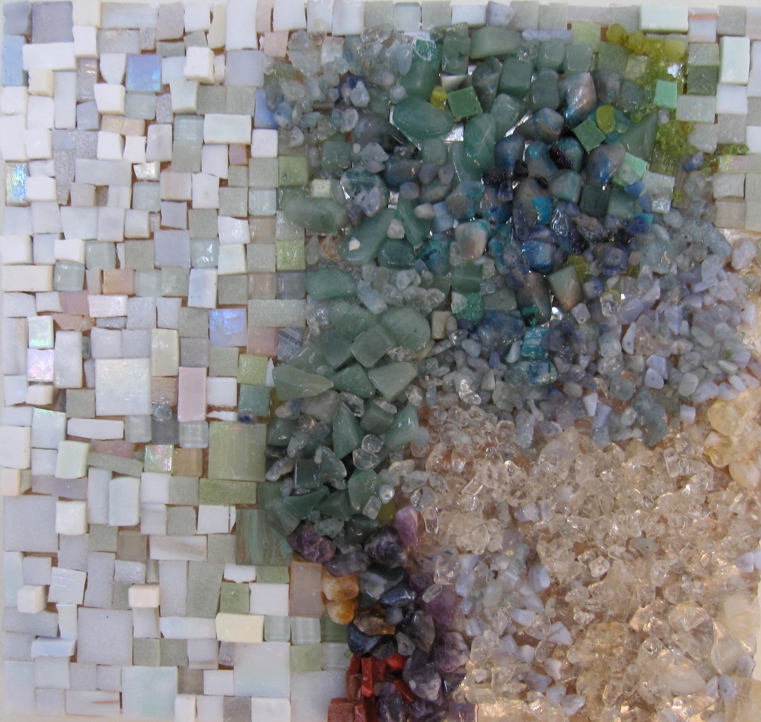 glass and semiprecious stone mosaic