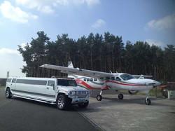 Hummer H2 & Flugzeug