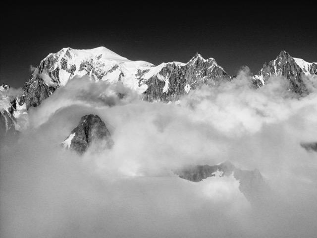 La vetta del Monte Bianco