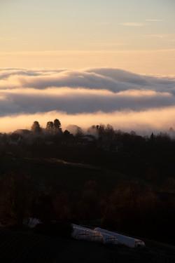 il sole e le nebbie; respiro profondo