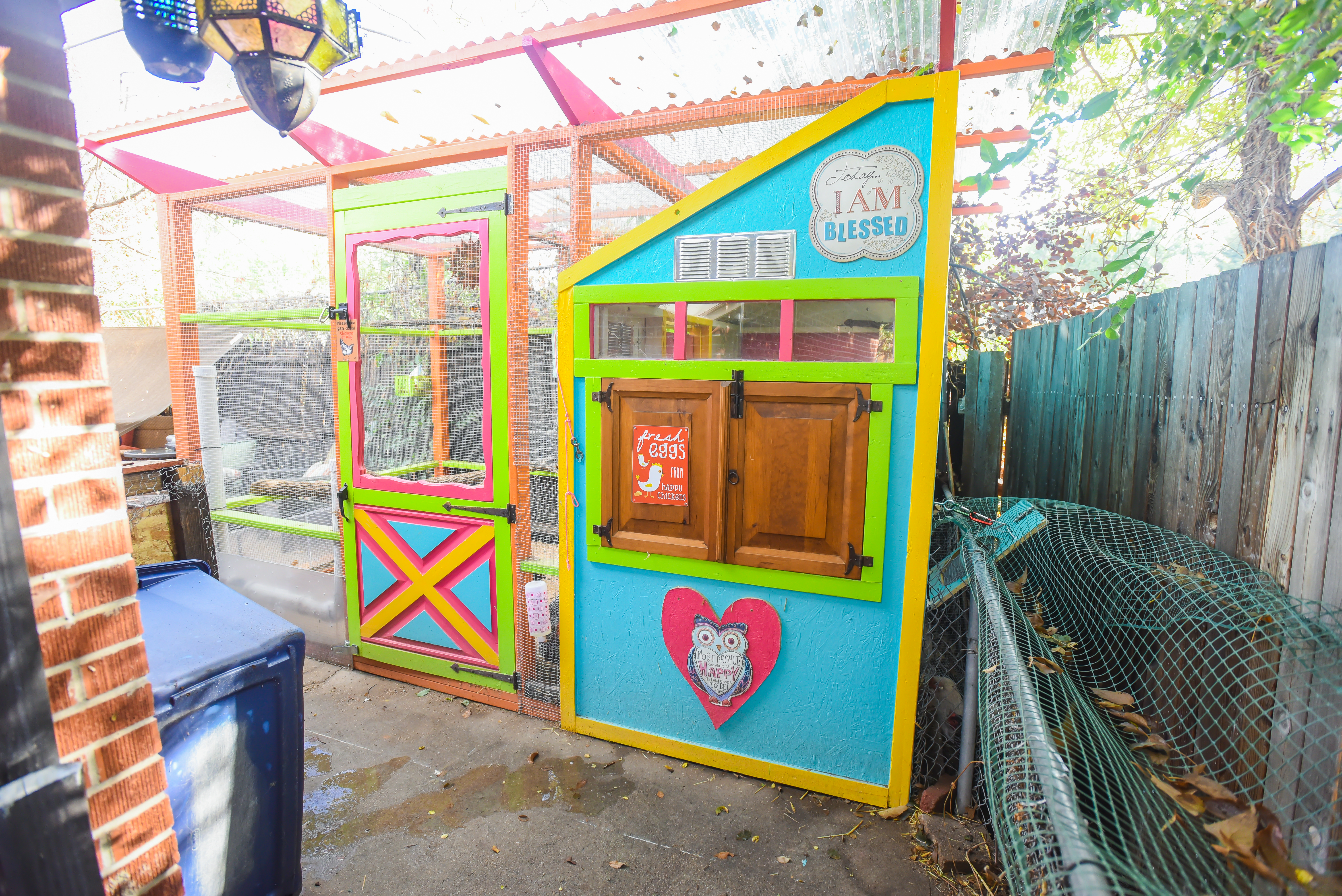 Colorful Chicken Coops