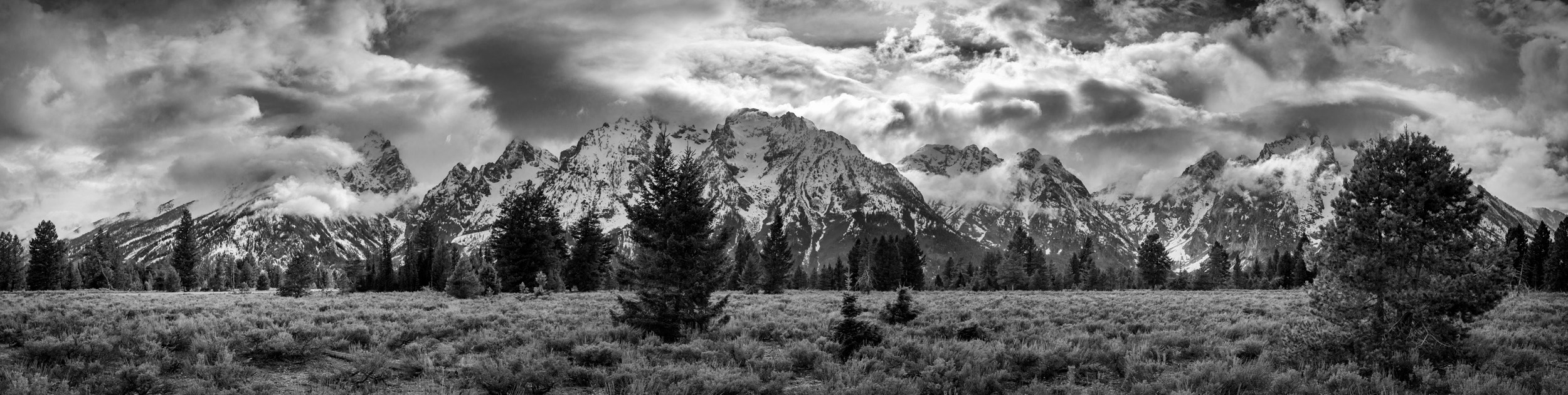 Tetons & Cloud Panorama 2