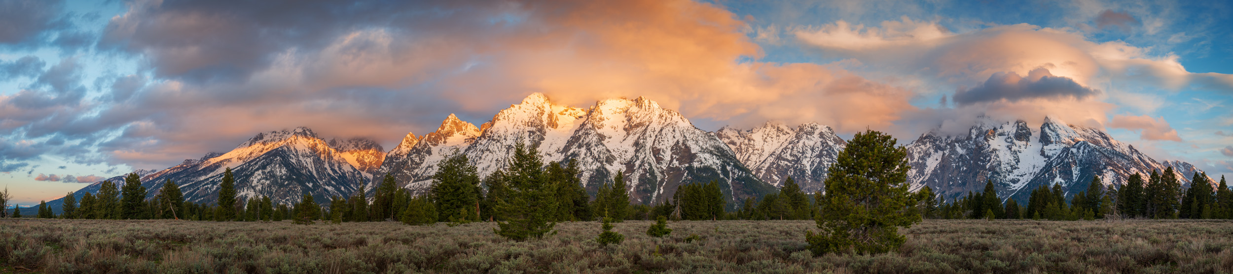 Tetons Sunrise Early Spring