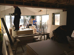 Construction - open plan kitchen