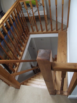 Stairwell view from attic