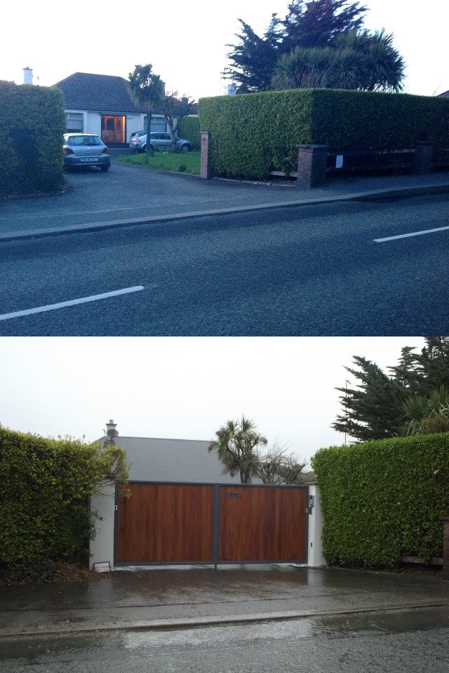 Entrance: before & after