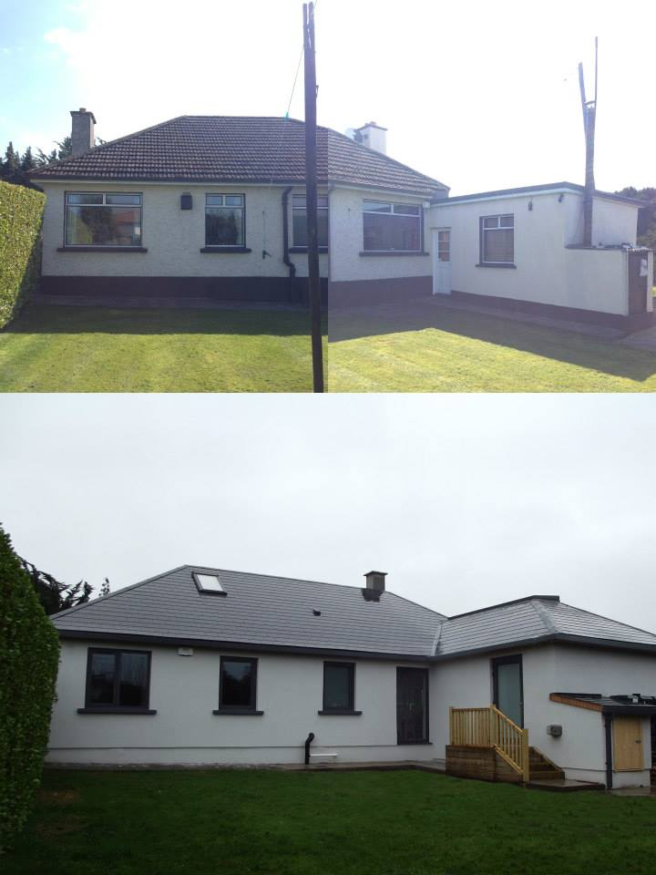 Rear Elevation: before & after