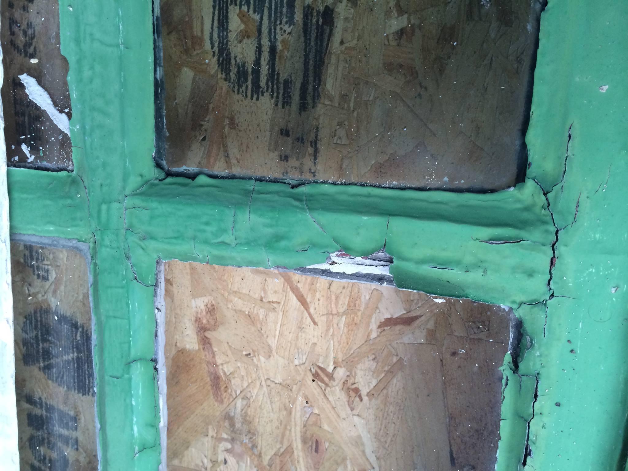 Window detail prior to repair