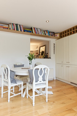 Bookshelves in kitchen