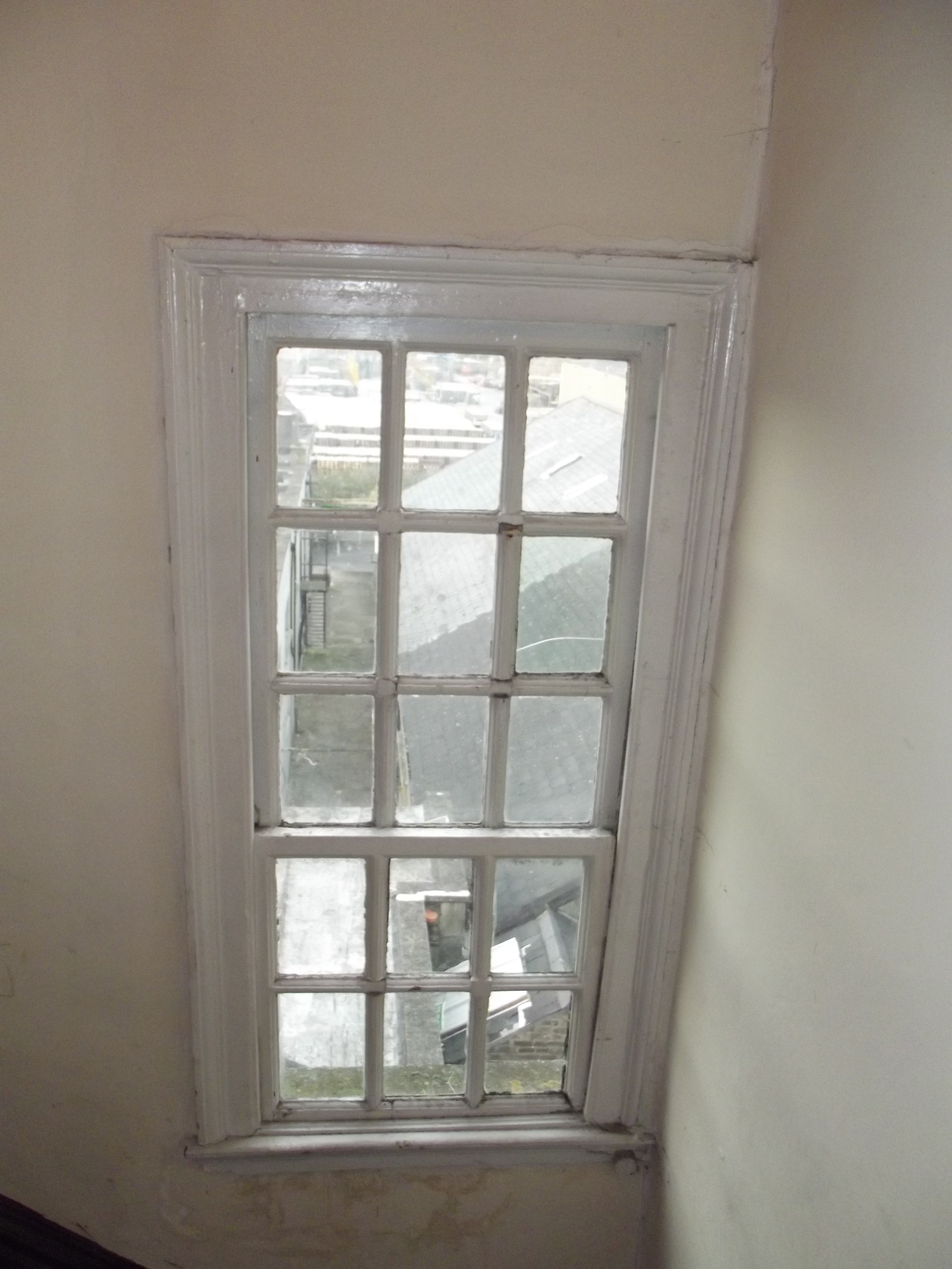Window to stairwell