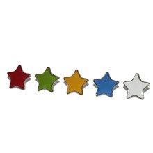 Set of 5 Coloured Stars 13mm
