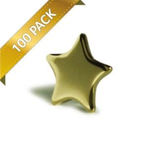 Gold Stars 13mm - x100