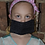 Thumbnail: Pleated Cotton Mask - Soft Black