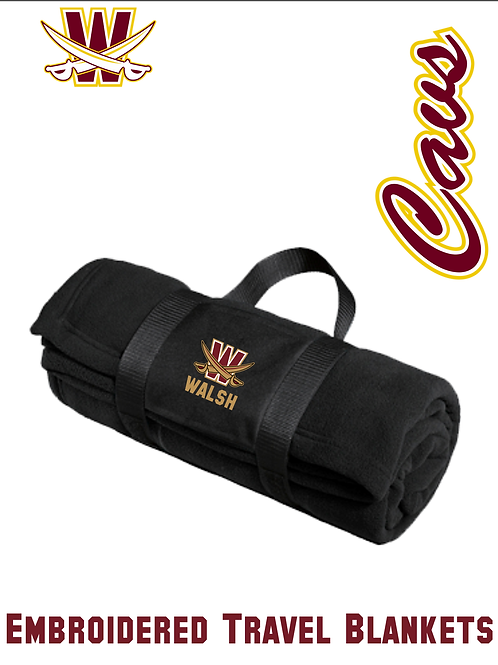 Fleece Blanket with Carrying Strap