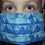 Thumbnail: Essential Worker Pleated Cotton Mask - Triangle Geo Ombre Teal
