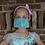 Thumbnail: Essential Worker Pleated Cotton Mask - Glitter Tonal Green