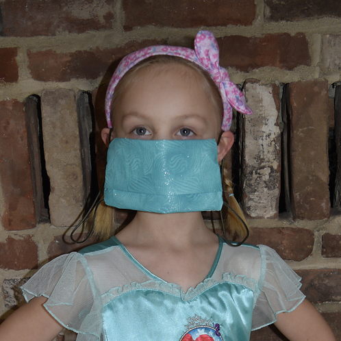 Essential Worker Pleated Cotton Mask - Glitter Tonal Green