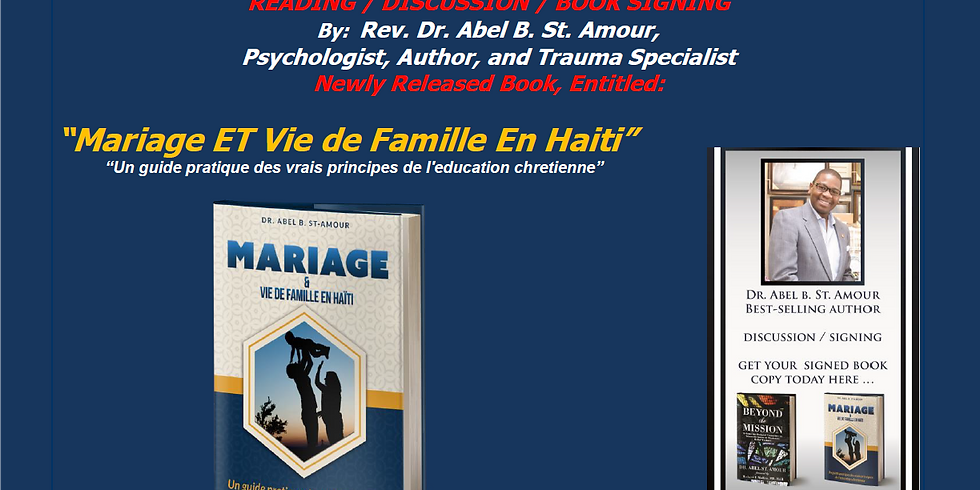 Dr. Abel B. St. Amour: READING / DISCUSSION / BOOK SIGNING