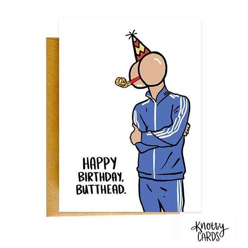 Butthead Birthday Card
