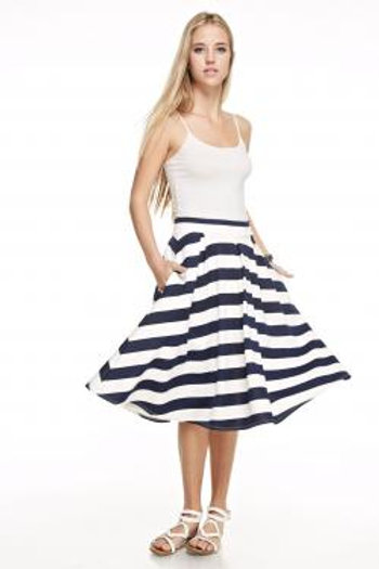 Techno Stripe Skirt