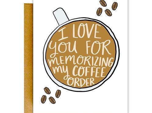 Coffee Order Greeting Card