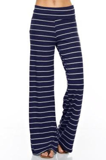 Wide Stripe Casual Pant