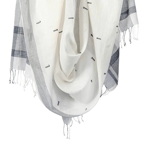 Black and White Diti Scarf