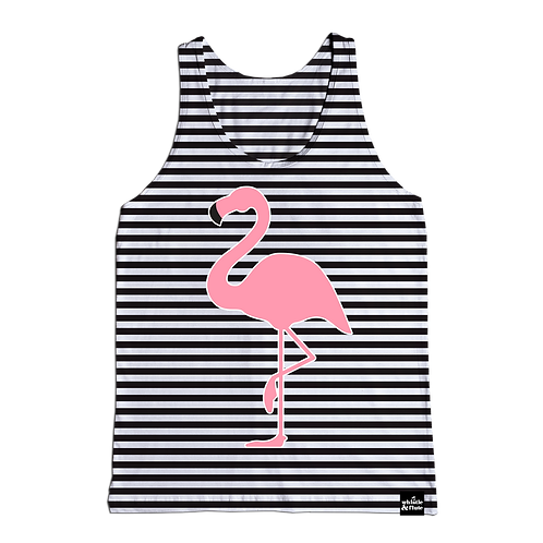 Flamingo Striped Tank (Kids)