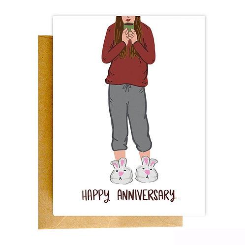 Happy Anniversary Sweats Greeting Card