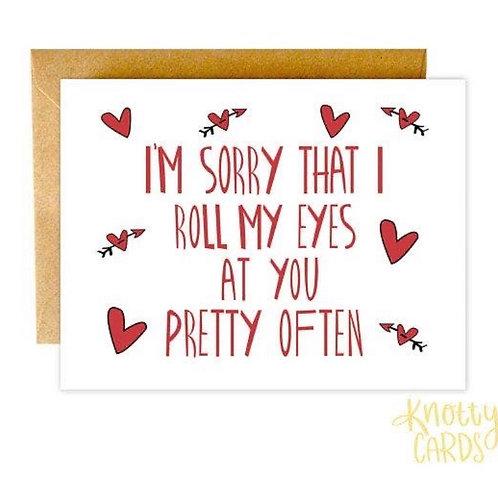 Eye Roll Relationship Card