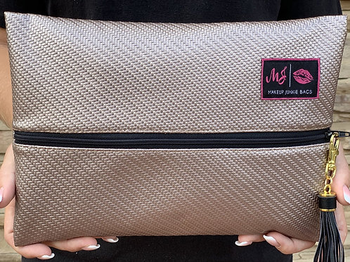 Makeup Junkie Bag in Dusty Rose
