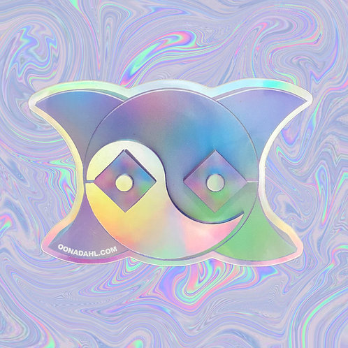 Holographic Vinyl Stickers: ÖD Logo