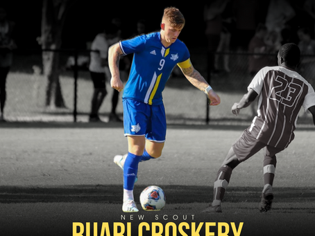 NEW STAFF: Former College Soccer Player, Ruari Croskery, joins as scout for Ireland.