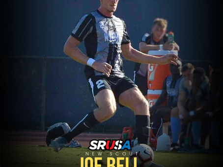 Former All-American and CACC Defender of the Year, Joe Bell, joins SRUSA as a Scout