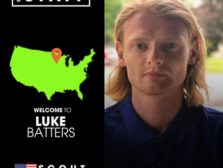 NEW STAFF: Former SRUSA Client, Luke Batters, joins as Scout covering Minneapolis area
