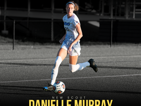 NEW STAFF: All Region and All Conference Soccer Player, Danielle Murray joins as a scout in Ireland.