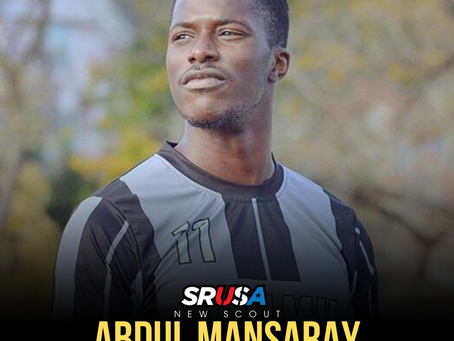 Former NCAA DII All-Region Student-Athlete,Abdul Mansaray, joins SRUSA as a Scout