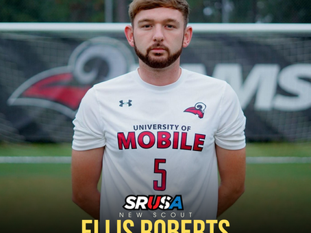 Former ALL-REGION AND SSAC Defender of the Year, Ellis Roberts, joins as a scout for SRUSA.