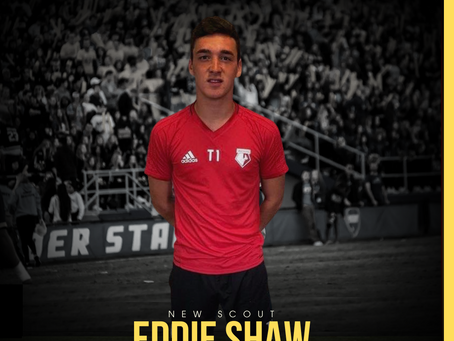 NEW STAFF: Former College Soccer Player, Eddie Shaw, joins as scout for Northern Ireland.
