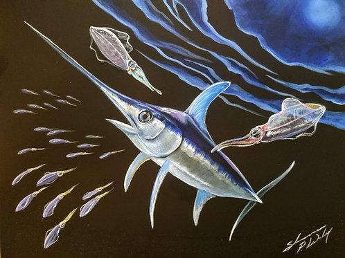 """""""Sword and Squid"""" (Original)"""