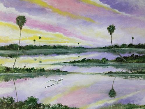 """Pastel Everglades Sunset"" (Original)"