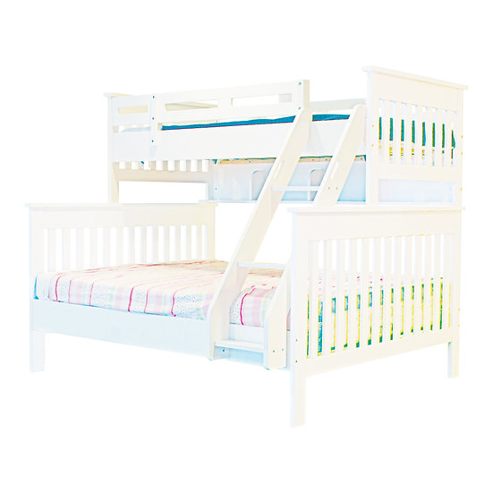 Pinto Series Bunk Bed Frame With Ladder (Single Over Queen)